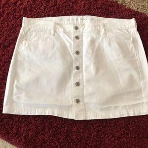 Old Navy White Denim Skirt